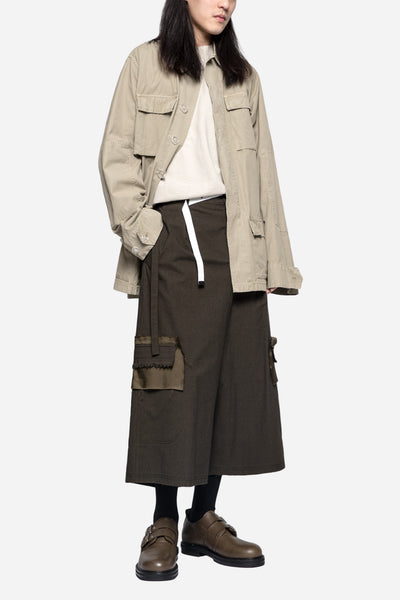 Diagonal Tape Field Jacket Khaki