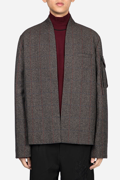 Banks Drain Us - Point Cardigan Suit Brown Red Check