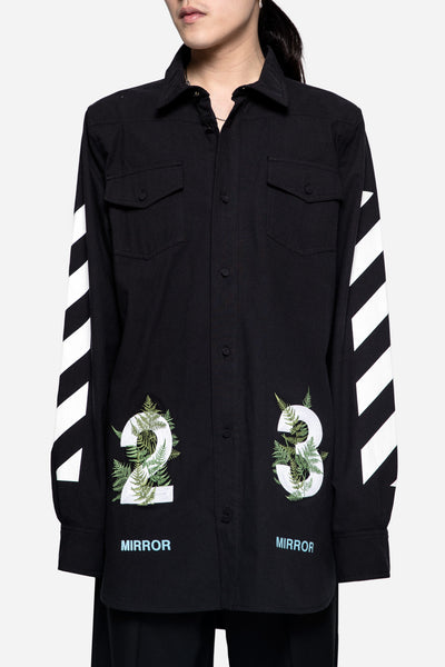 Off-White - Diagonal Fern Shirt Black