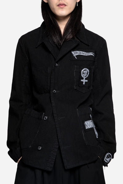 Heikki Salonen - Worker Jacket with Patches Washed Black