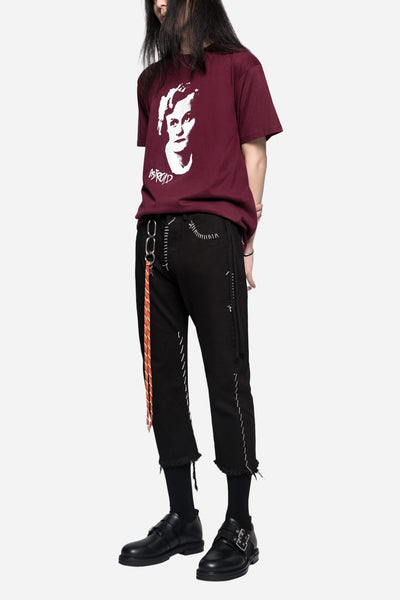Astroid Printed Tee Burgundy