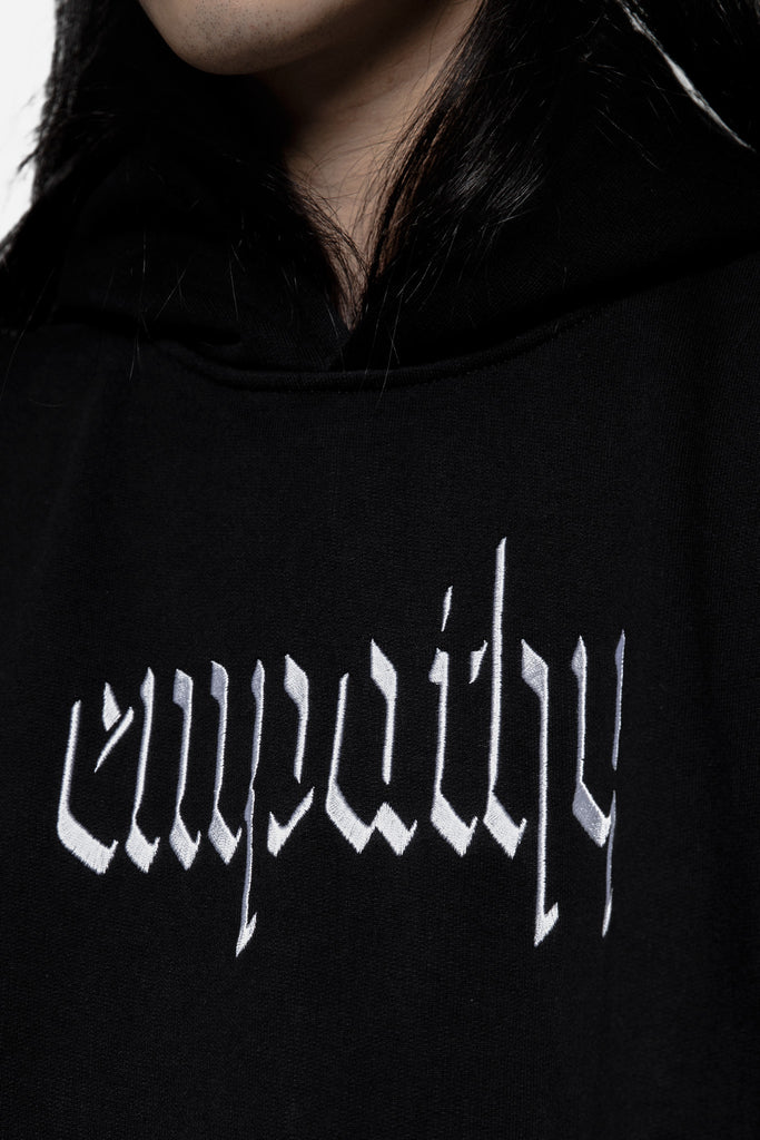 Empathy Embroidered Hoodie Black