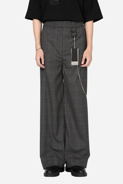 Banks Drain Us - Dobby Flared Trouser Grey Gold Check
