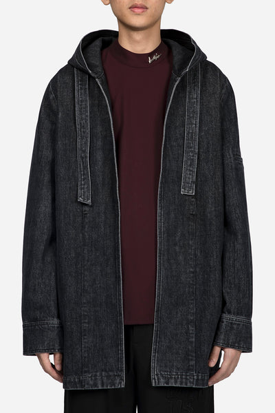 Banks Drain Us - Norman Hooded Oversized Coat Greystone Drain Wash