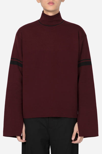 Banks Drain Us - Jackson Turtleneck Sweater Merlot Red + Dry Onyx