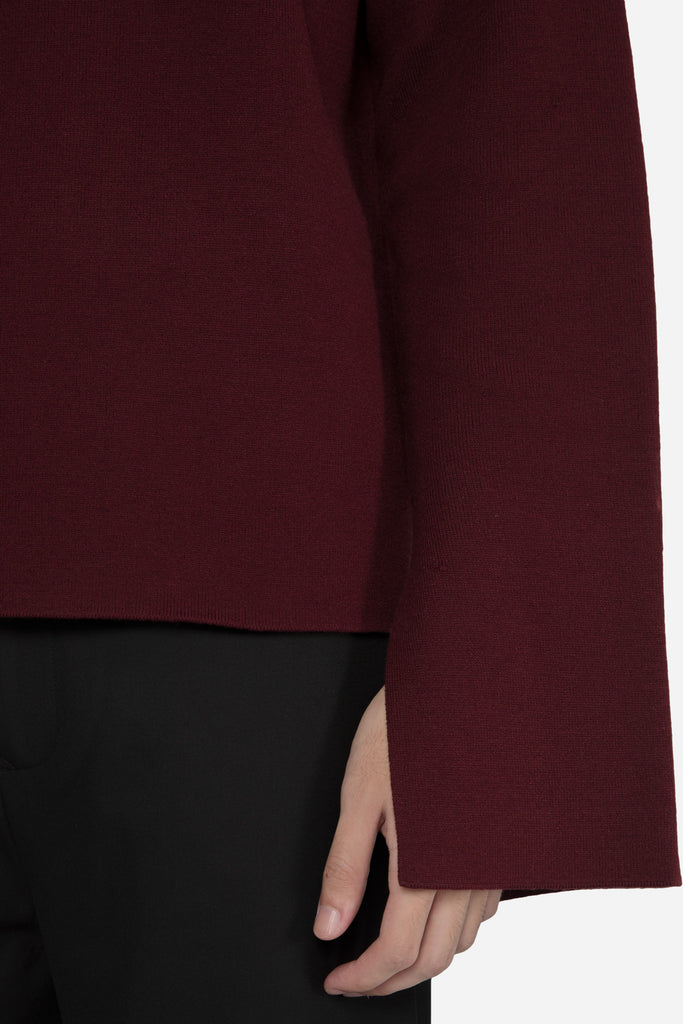 Jackson Turtleneck Sweater Merlot Red + Dry Onyx