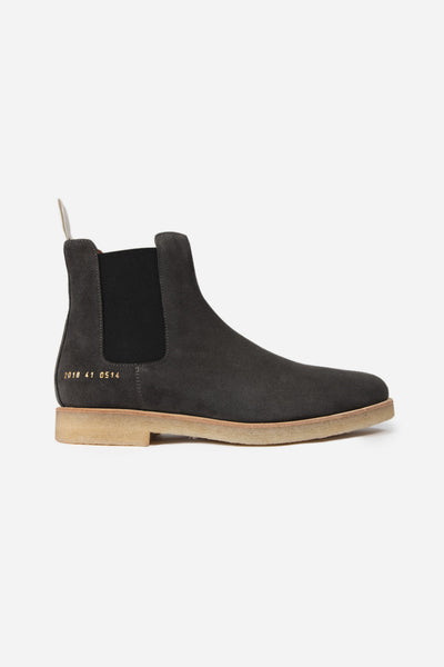 Common Projects - Chelsea Boot Suede Washed Black 0514