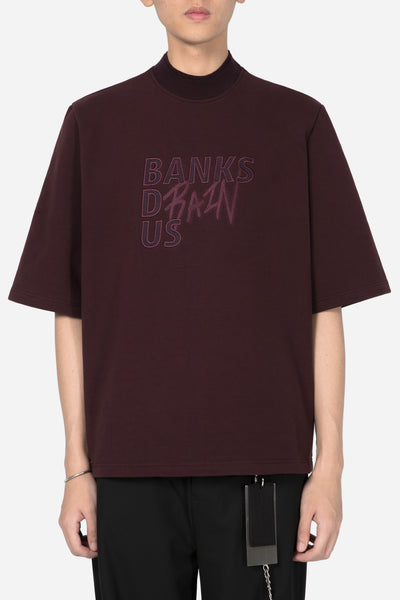 Banks Drain Us - Jess Mock SS Crew Merlot Red