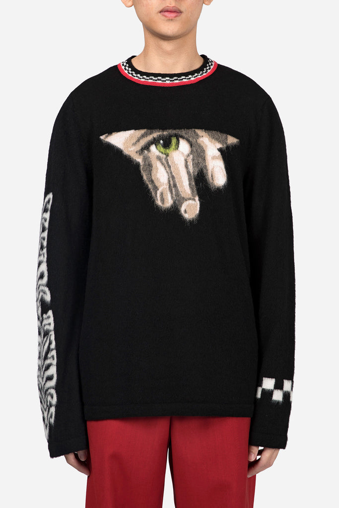 Seeing Things Pullover Black Multicolor