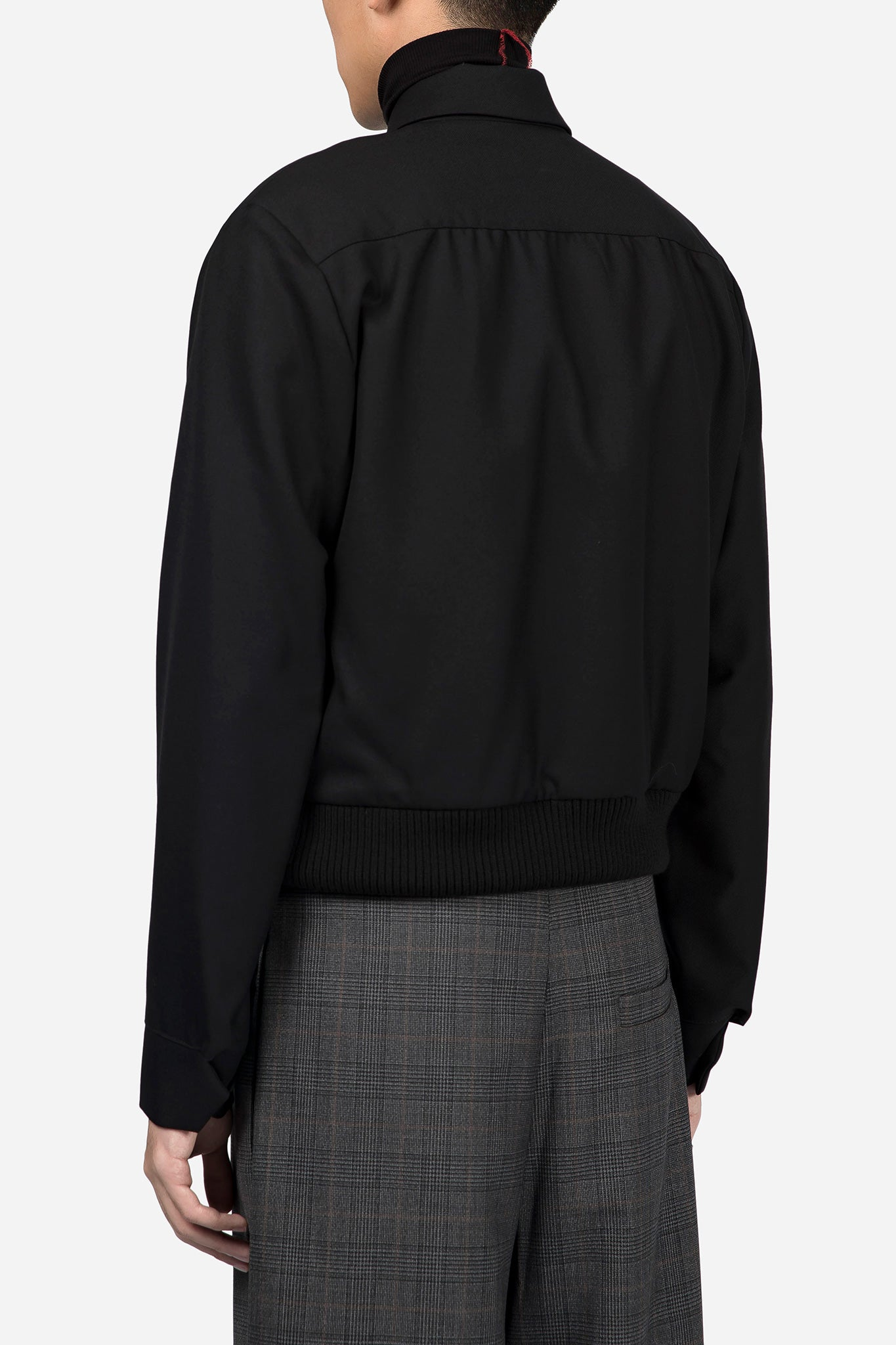 Wool Harrington Jacket Black