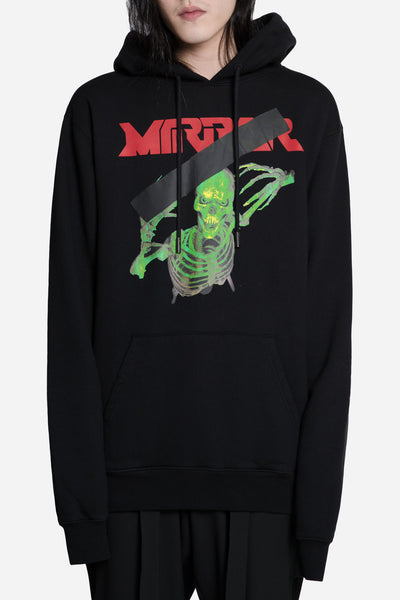 Off-White - Mirror Skull Hoodie Black
