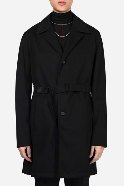 Mackintosh 0001 - Cashmere Belted Trench Coat Black