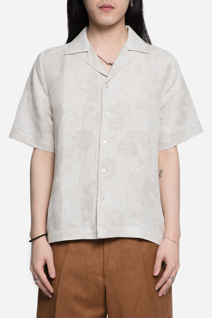 Everett Echino Short Sleeve Shirt Sand