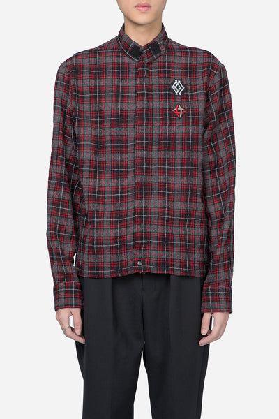 Lanvin - Patch Zip Jacket Shirt Red