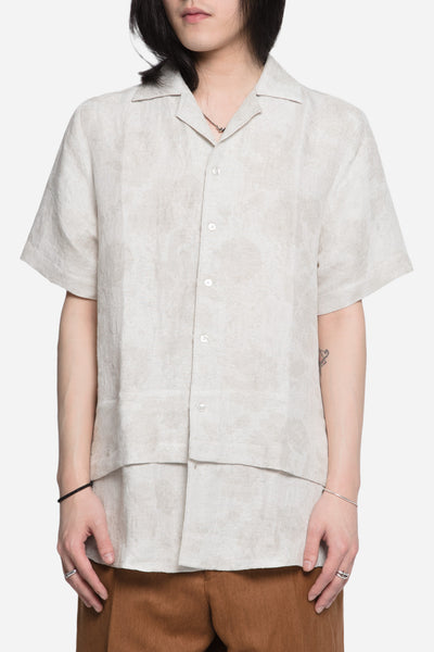 Matthew Miller - Hunter Layered Open Collared Shirt Sand