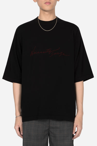 Banks Drain Us - Logo Uniform Mock Knit Tee Dry Onyx + Merlot Red
