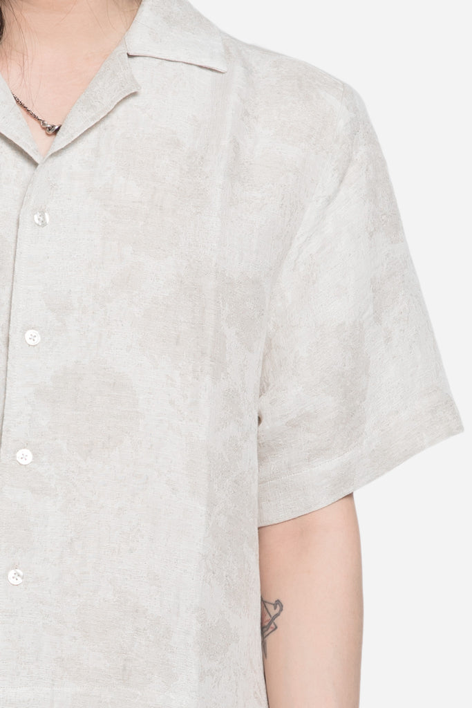 Hunter Layered Open Collared Shirt Sand