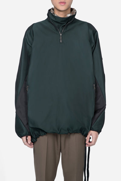 Lanvin - Running Jumper Techno Gabardine Green