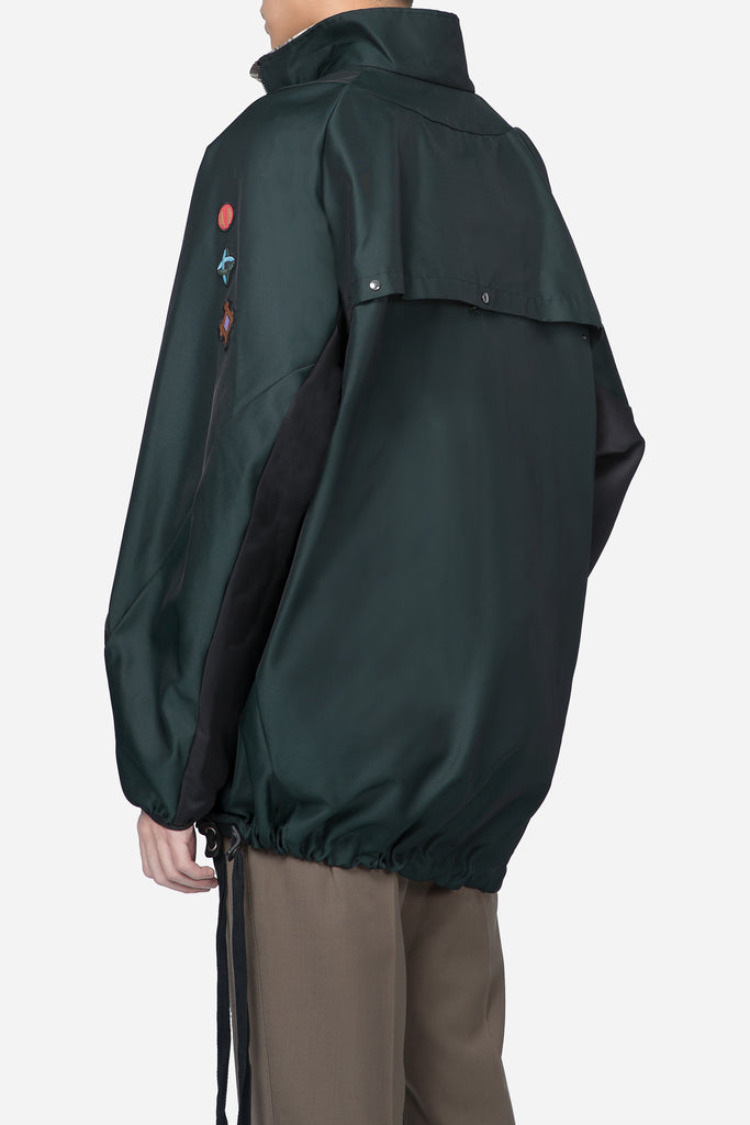 Running Jumper Techno Gabardine Green