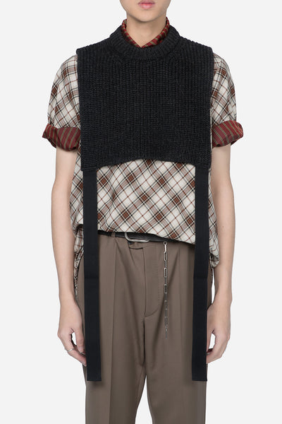 Lanvin - Military Stitch Plastron Antracite