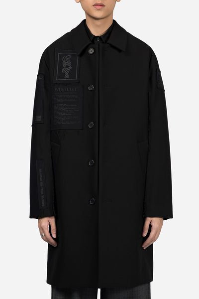 Yang Li - Coat with Patches Black
