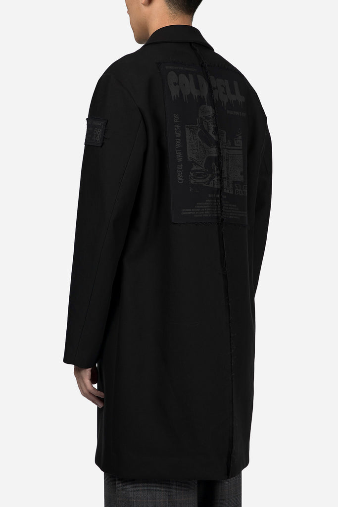 Coat with Patches Black