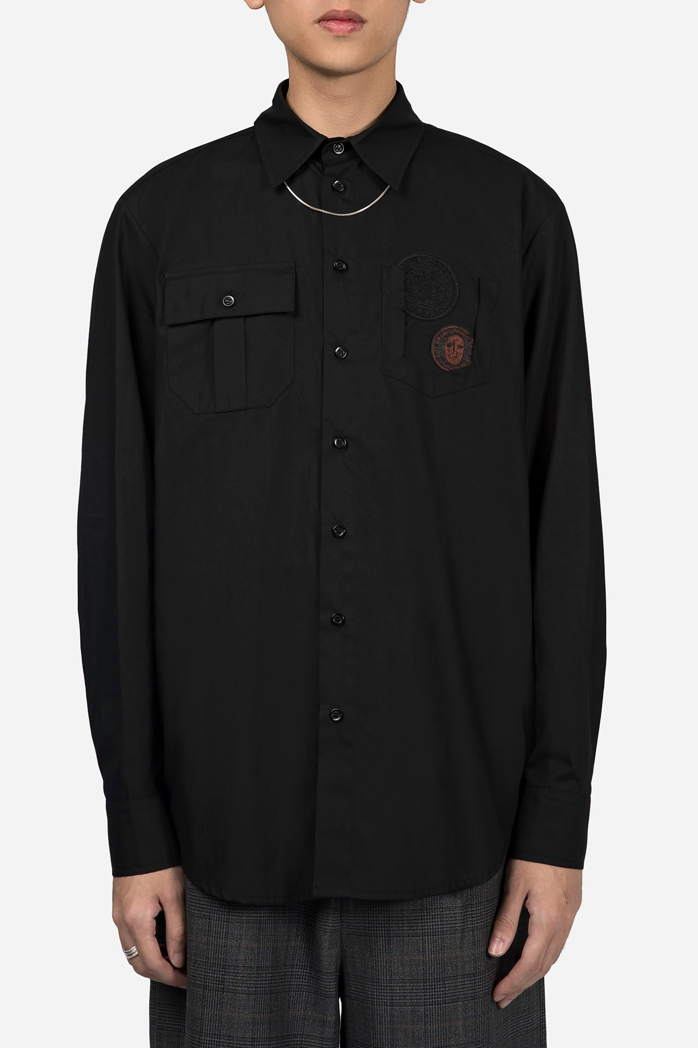 Classic Shirt wtih Patches Black
