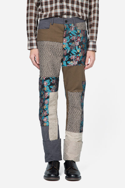 Lanvin - Fitted 5 Pockets Pants Patchwork