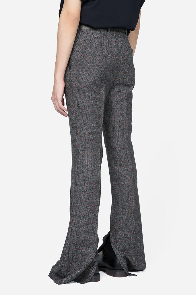 Slit Hemline Trousers Grey