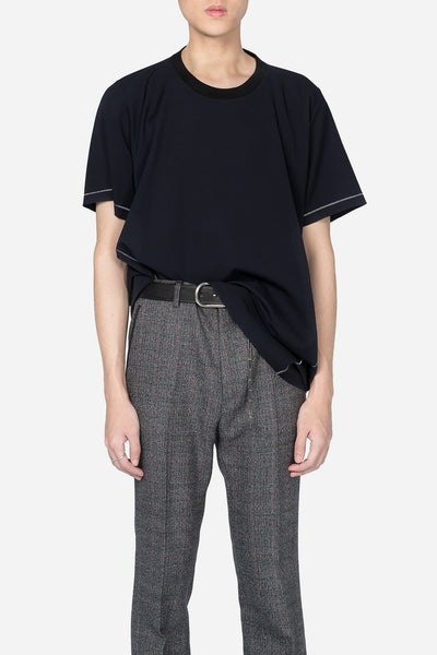 Lanvin - Long Gabardine T-shirt Navy