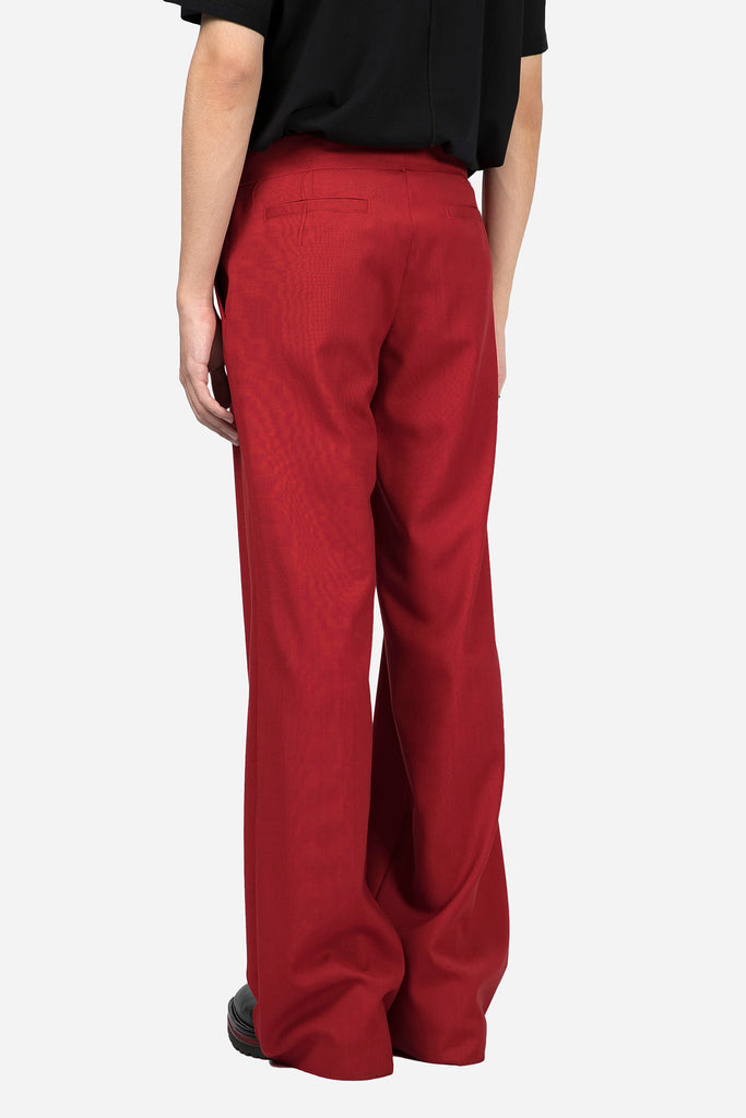 Low Rise Wide Trouser Red
