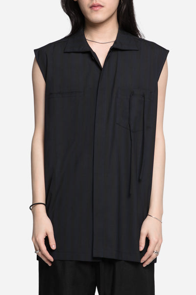 Seven Seconds of Memory - Hick Sleeveless Worker Shirt Dry Onyx / Nightfall Stripes