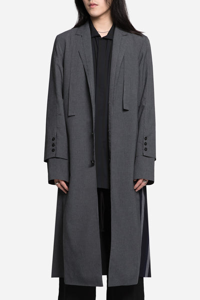 Seven Seconds of Memory - Doc Long Coat Gris Suiting