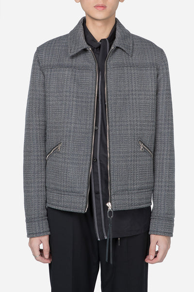 Lanvin - Mottled Double Jacquard Yoke Jacket Grey