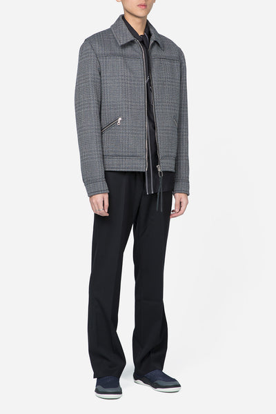 Mottled Double Jacquard Yoke Jacket Grey