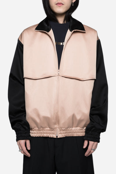 CMMN SWDN - Rodeo Tracktop in Japanese Satin Blush/Black