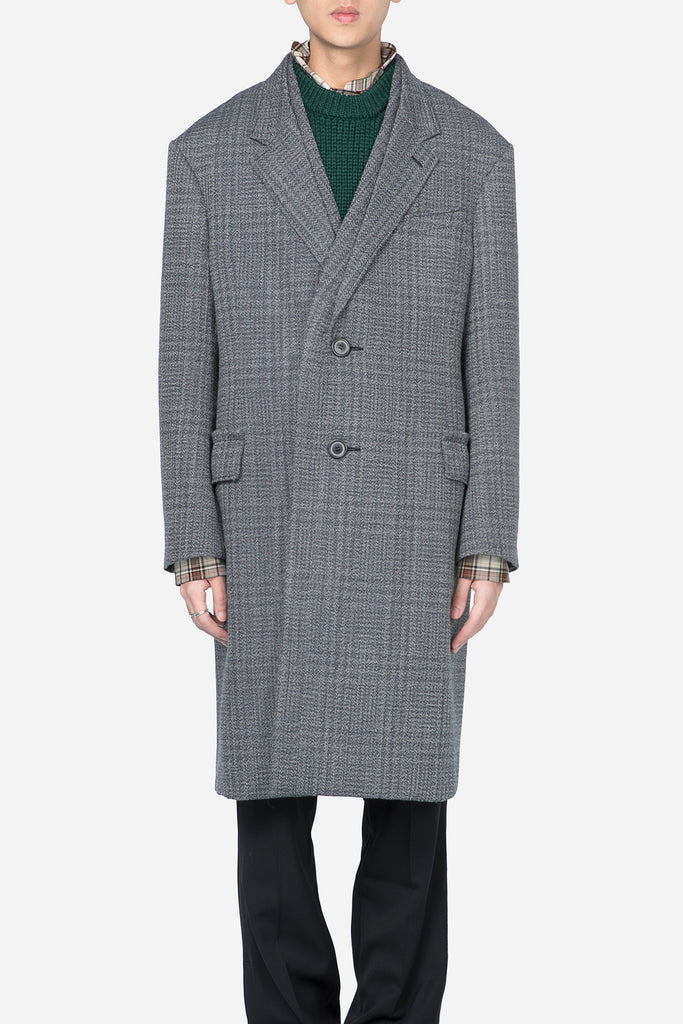 2BT Quilted Large Facing Coat Grey