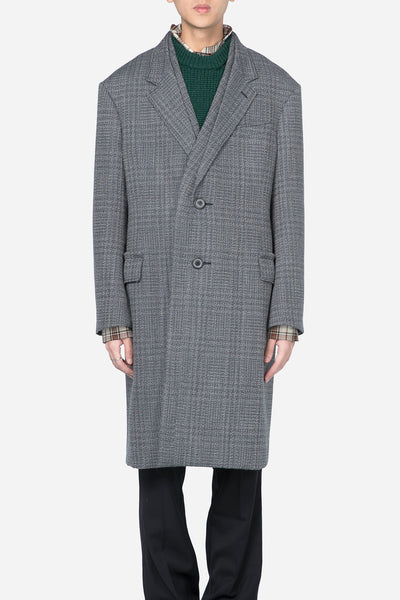 Lanvin - 2BT Quilted Large Facing Coat Grey