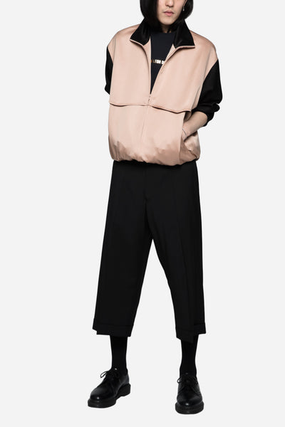 Rodeo Tracktop in Japanese Satin Blush/Black