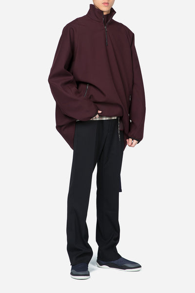 Running Jumper Techno Gabardine Burgundy