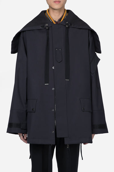 Lanvin - Workwear Parka With Side Zip Black
