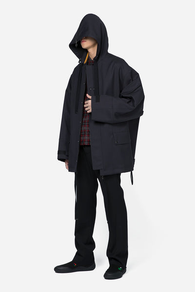 Workwear Parka With Side Zip Black