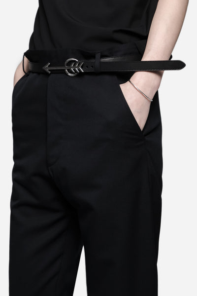 Arrow Buckle Belt in Vegetal Washed Calf