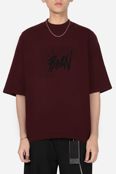 Banks Drain Us - BDU Uniform Mock Knit Tee Merlot Red