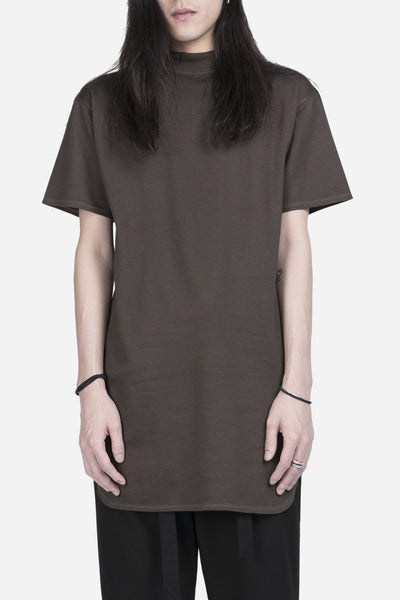 robert geller - The Long Mock Neck T-Shirt Khaki