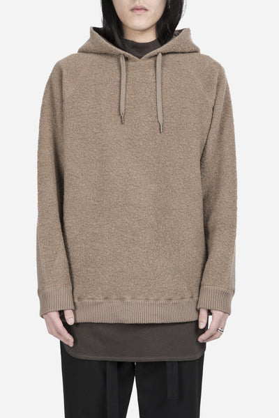 robert geller - The Textured Hoodie Khaki