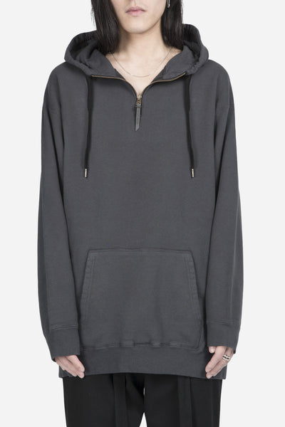 robert geller - The Zipper Hoodie Charcoal