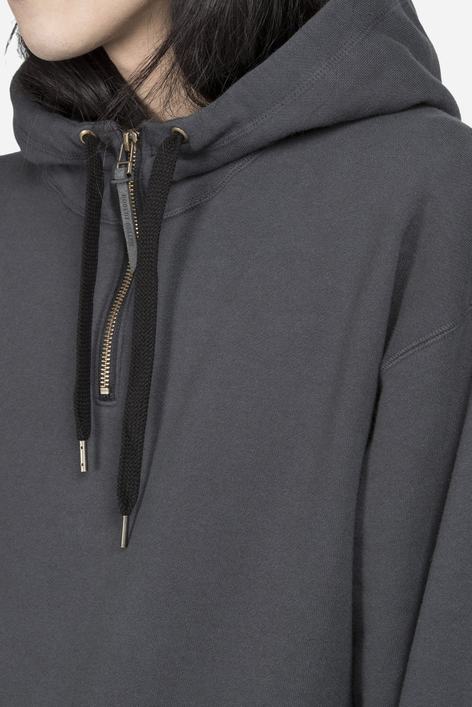 The Zipper Hoodie Charcoal