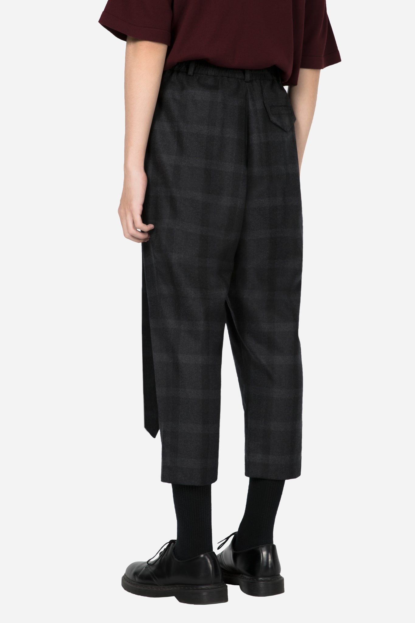 Mich Formal Trouser Black Subtle Check