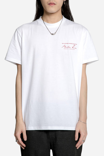 Martine Rose - Classic S/S Tee w Print White/Red